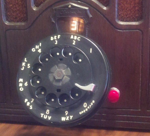 jukebox rotary dial and display up close