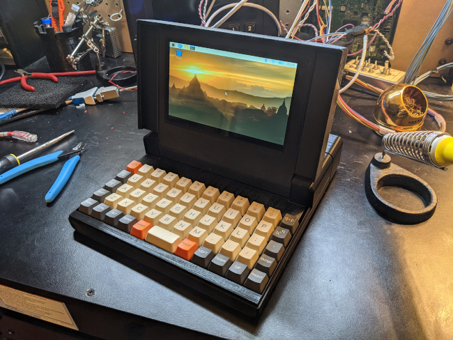 the completed Griz Sextant computer with lid open